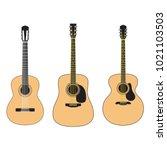 set of acoustic guitars...   Shutterstock .eps vector #1021103503