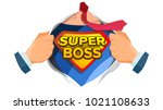 super boss sign vector.... | Shutterstock .eps vector #1021108633