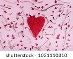 valentine's day background... | Shutterstock . vector #1021110310