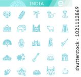 india icons set. indian... | Shutterstock .eps vector #1021112869