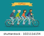 family concept. mother  father  ... | Shutterstock .eps vector #1021116154