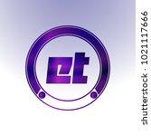et logo  metal logo  purple...   Shutterstock .eps vector #1021117666