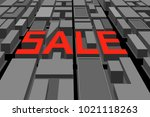 banner sale with letters from... | Shutterstock .eps vector #1021118263