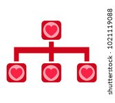 heart vector icon | Shutterstock .eps vector #1021119088