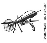 drone illustration   a vector... | Shutterstock .eps vector #1021126630