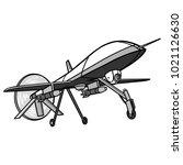 drone illustration   a vector... | Shutterstock .eps vector #1021126630