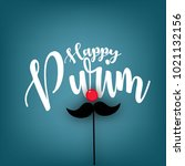 purim   holiday purim with... | Shutterstock .eps vector #1021132156