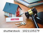 house with a gavel | Shutterstock . vector #1021135279