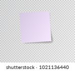 paper sticker with shadow on... | Shutterstock .eps vector #1021136440