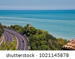 Small photo of Motorway elbow Curve along the Adriatic coast