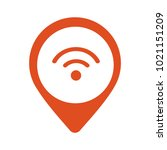 wi fi location pointer icon...