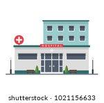 hospital building   urban...   Shutterstock .eps vector #1021156633