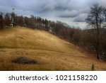 late autumn at the pilgrimage...   Shutterstock . vector #1021158220