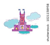 castle in the air vector... | Shutterstock .eps vector #1021158958