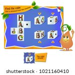 educational game for kids ... | Shutterstock .eps vector #1021160410