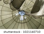 insight of a big paratrooper... | Shutterstock . vector #1021160710