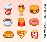 food icons | Shutterstock .eps vector #102116200