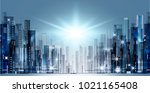 abstract night background with... | Shutterstock . vector #1021165408