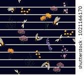 vector seamless pattern hand...   Shutterstock .eps vector #1021166170