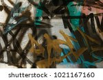 beautiful street art. abstract... | Shutterstock . vector #1021167160