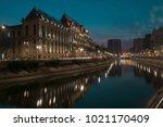 old town   bucharest | Shutterstock . vector #1021170409