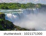 niagara falls from usa. | Shutterstock . vector #1021171300