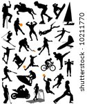collection of sports vector 5 | Shutterstock .eps vector #10211770