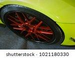 close up magnesium alloy wheel. | Shutterstock . vector #1021180330