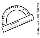 protractor doodle icon.... | Shutterstock .eps vector #1021187200