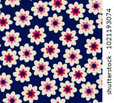 seamless floral pattern in...   Shutterstock .eps vector #1021193074