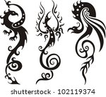 stylized dragons. vector set | Shutterstock .eps vector #102119374