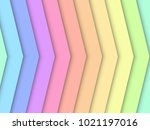 arrow rainbow pastel art... | Shutterstock .eps vector #1021197016