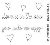 vector ink valentine day... | Shutterstock .eps vector #1021198156