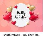 2018 valentine's day background ... | Shutterstock .eps vector #1021204483