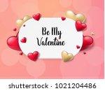 2018 valentine's day background ...   Shutterstock .eps vector #1021204486