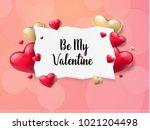 2018 valentine's day background ... | Shutterstock .eps vector #1021204498