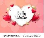 2018 valentine's day background ... | Shutterstock .eps vector #1021204510
