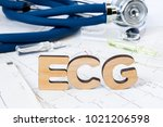 ecg acronym or abbreviation to...   Shutterstock . vector #1021206598