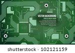 printed circuit board vector... | Shutterstock .eps vector #102121159
