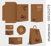 stationery template design  ... | Shutterstock .eps vector #102121273