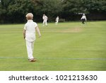 young boy fielding in game of...   Shutterstock . vector #1021213630