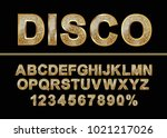 golden shiny mosaic in disco... | Shutterstock .eps vector #1021217026