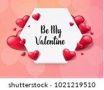 2018 valentine's day background ... | Shutterstock .eps vector #1021219510