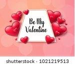 2018 valentine's day background ... | Shutterstock .eps vector #1021219513
