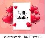 2018 valentine's day background ... | Shutterstock .eps vector #1021219516