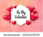 2018 valentine's day background ... | Shutterstock .eps vector #1021219519