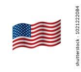 usa flag isolated   Shutterstock .eps vector #1021222084