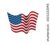 usa flag isolated | Shutterstock .eps vector #1021222093