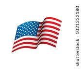 usa flag isolated | Shutterstock .eps vector #1021222180