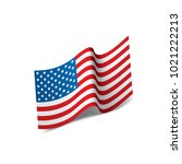 usa flag isolated | Shutterstock .eps vector #1021222213